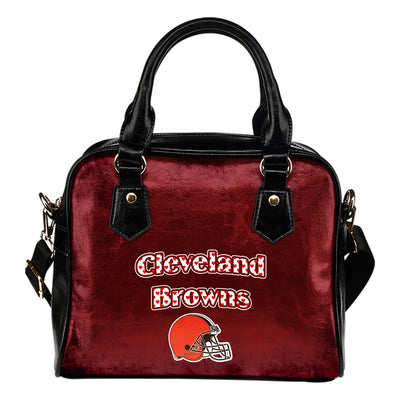 Love Icon Mix Cleveland Browns Logo Meaningful Shoulder Handbags
