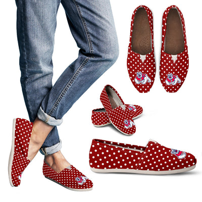 Red Valentine Cosy Atmosphere Fresno State Bulldogs Casual Shoes V2