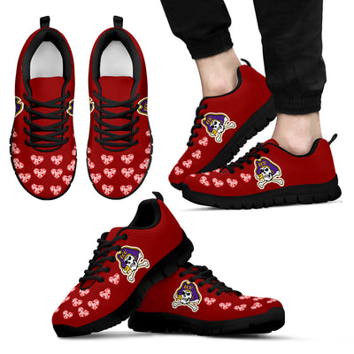 Love Extreme Emotion Pretty Logo East Carolina Pirates Sneakers