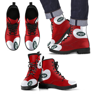 Enormous Lovely Hearts With New York Jets Boots
