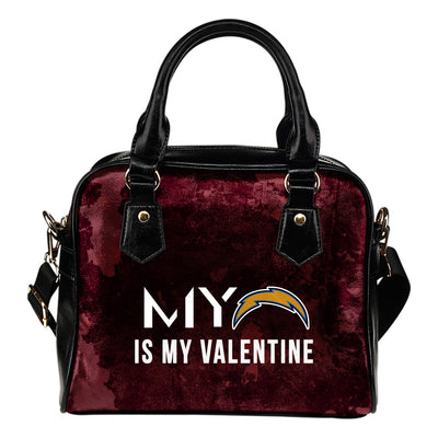 My Perfectly Valentine Fashion Los Angeles Chargers Shoulder Handbags