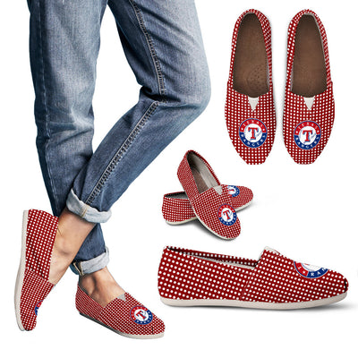 Red Valentine Cosy Atmosphere Texas Rangers Casual Shoes