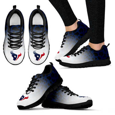 Leopard Pattern Awesome Houston Texans Sneakers