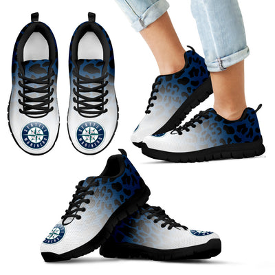 Leopard Pattern Awesome Seattle Mariners Sneakers