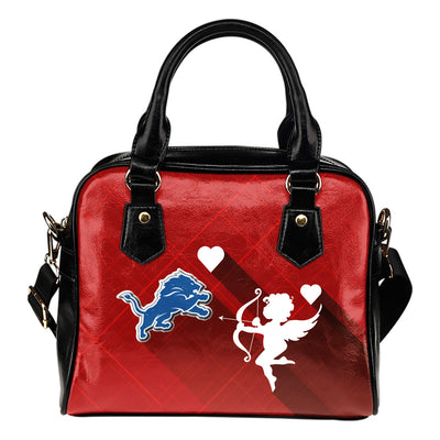 Superior Cupid Love Delightful Detroit Lions Shoulder Handbags