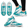 Interesting Miami Dolphins Sneakers Thunder Lightning Amazing Logo
