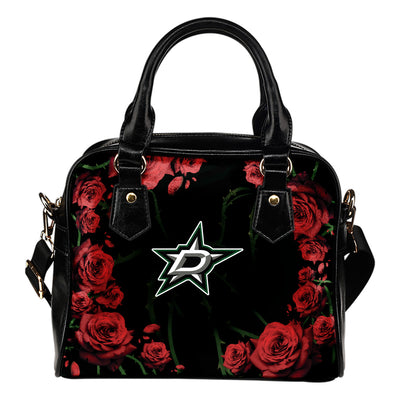 Valentine Rose With Thorns Dallas Stars Shoulder Handbags