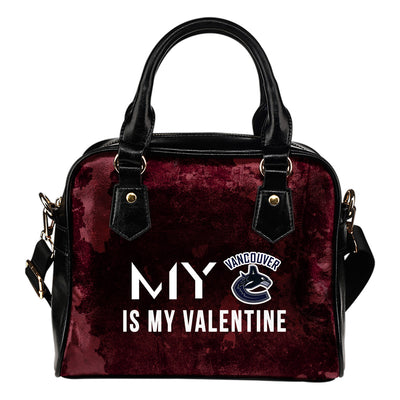 My Perfectly Valentine Fashion Vancouver Canucks Shoulder Handbags
