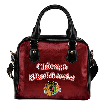 Love Icon Mix Chicago Blackhawks Logo Meaningful Shoulder Handbags
