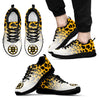 Custom Printed Boston Bruins Sneakers Leopard Pattern Awesome