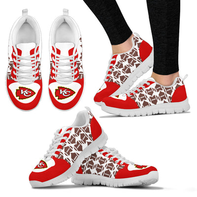 Great Football Love Frame Kansas City Chiefs Sneakers