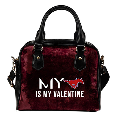 My Love Valentine Fashion SMU Mustangs Shoulder Handbags