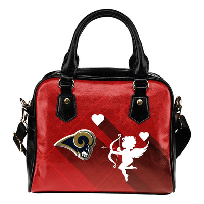 Superior Cupid Love Delightful Los Angeles Rams Shoulder Handbags