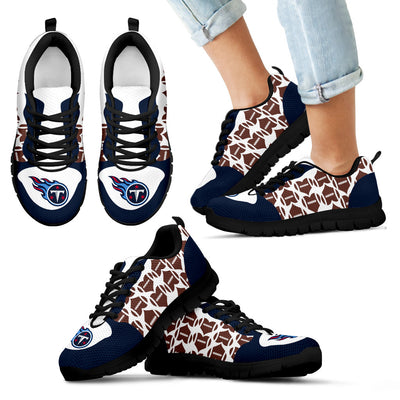 Great Football Love Frame Tennessee Titans Sneakers