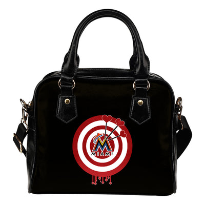Valentine Sweet Miami Marlins Dart Couple Love Shoulder Handbags