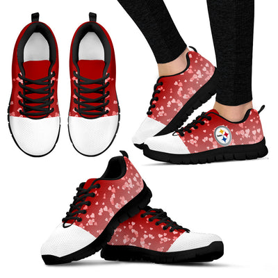Heart Flying Valentine Sweet Logo Pittsburgh Steelers Sneakers