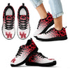 Leopard Pattern Awesome Houston Cougars Sneakers