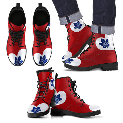 Enormous Lovely Hearts With Toronto Maple Leafs Boots