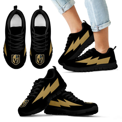 Unique Vegas Golden Knights Sneakers Thunder Lightning Amazing Logo
