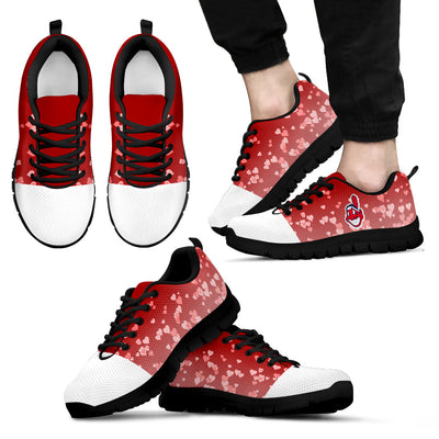 Heart Flying Valentine Sweet Logo Cleveland Indians Sneakers