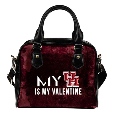 My Perfectly Love Valentine Fashion Houston Cougars Shoulder Handbags