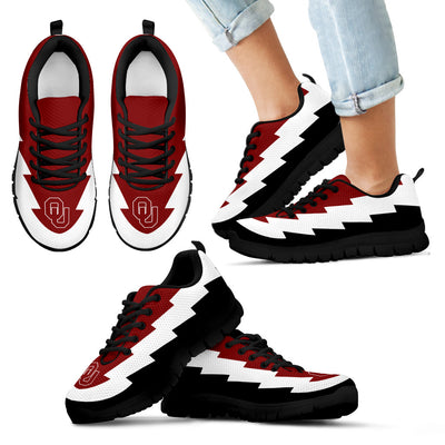 Amazing New Oklahoma Sooners Sneakers Jagged Saws Creative Draw