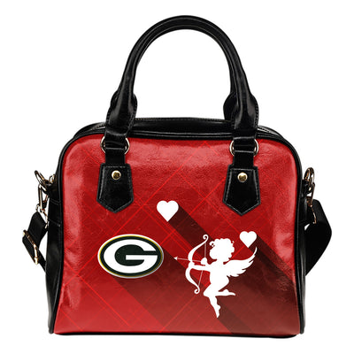 Superior Cupid Love Delightful Green Bay Packers Shoulder Handbags