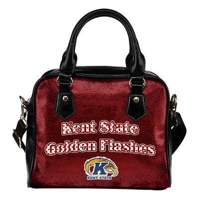 Love Icon Mix Kent State Golden Flashes Logo Meaningful Shoulder Handbags
