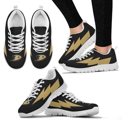 Gorgeous Style Anaheim Ducks Sneakers Thunder Lightning Amazing Logo