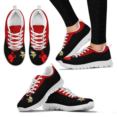Cute Cupid Angel Background Minnesota Vikings Sneakers