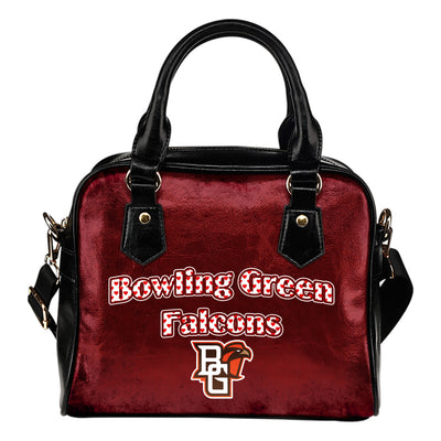 Love Icon Mix Bowling Green Falcons Logo Meaningful Shoulder Handbags