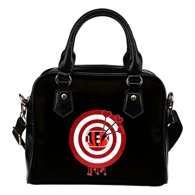 Valentine Sweet Cincinnati Bengals Dart Couple Love Shoulder Handbags