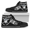 Straight Outta Oakland Raiders High Top Shoes