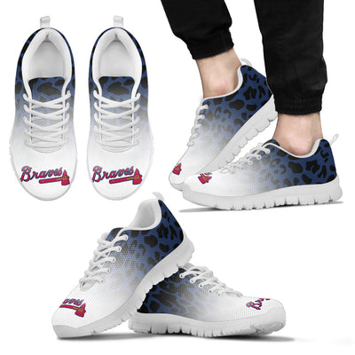Leopard Pattern Awesome Atlanta Braves Sneakers