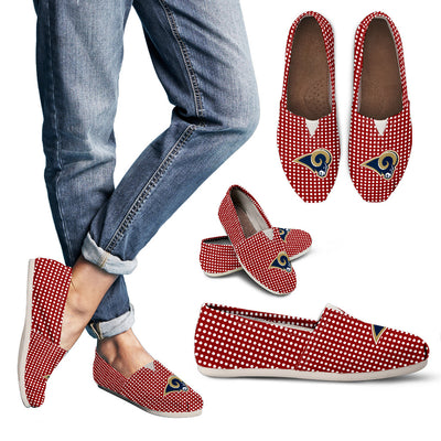 Red Valentine Cosy Atmosphere Los Angeles Rams Casual Shoes
