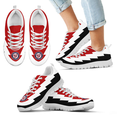 Funny Washington Nationals Sneakers Jagged Saws Creative Draw