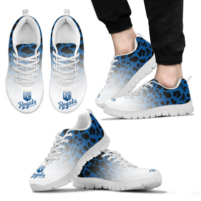 Leopard Pattern Awesome Kansas City Royals Sneakers