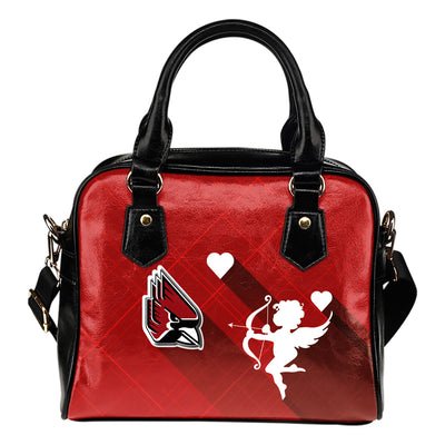 Superior Cupid Love Delightful Ball State Cardinals Shoulder Handbags