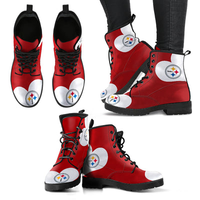 Enormous Lovely Hearts With Pittsburgh Steelers Boots