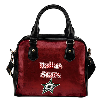 Love Icon Mix Dallas Stars Logo Meaningful Shoulder Handbags