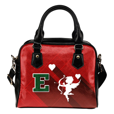 Superior Cupid Love Delightful Eastern Michigan Eagles Shoulder Handbags