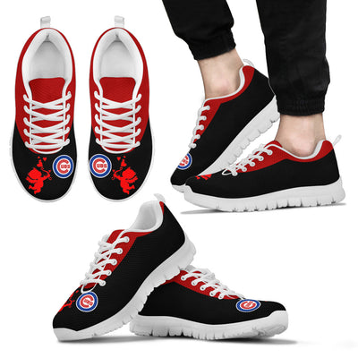 Cute Cupid Angel Background Chicago Cubs Sneakers