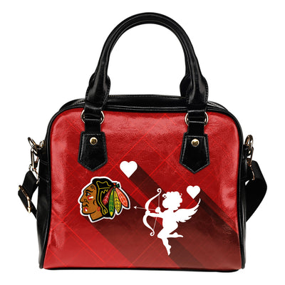 Superior Cupid Love Delightful Chicago Blackhawks Shoulder Handbags