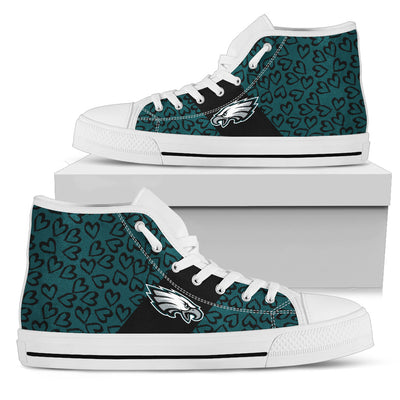 Perfect Cross Color Absolutely Nice Philadelphia Eagles High Top Shoes