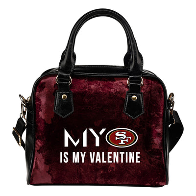 My Perfectly Love Valentine Fashion San Francisco 49ers Shoulder Handbags