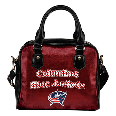 Love Icon Mix Columbus Blue Jackets Logo Meaningful Shoulder Handbags