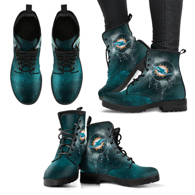 Secret Green Sun And Moon Dreamcatcher Miami Dolphins Boots