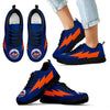 Cool Style New York Mets Sneakers Thunder Lightning Amazing Logo