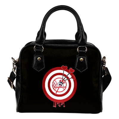 Valentine Sweet New York Yankees Dart Couple Love Shoulder Handbags