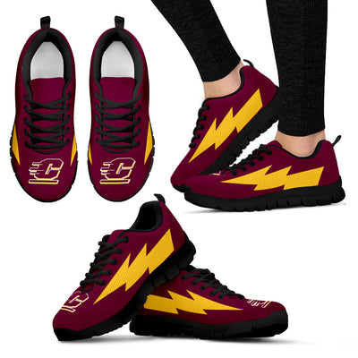 Hot Central Michigan Chippewas Sneakers Thunder Lightning Amazing